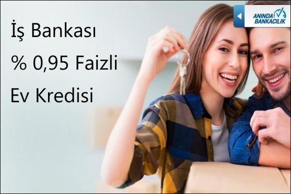 Türkiye İş Bankası 0,95 Faizli Konut Kredisi Kampanyası