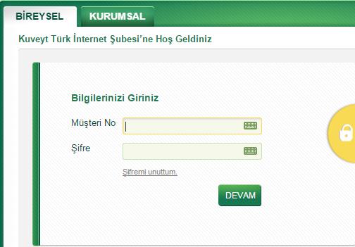 kuveyttürk internet bankacılığı